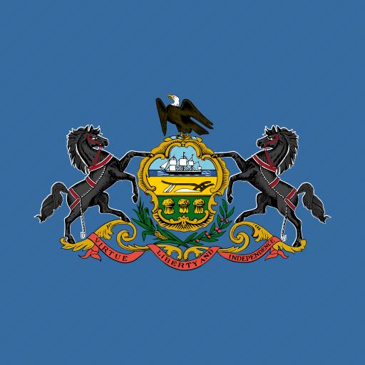 american, flag, pennsylvania, square, state icon