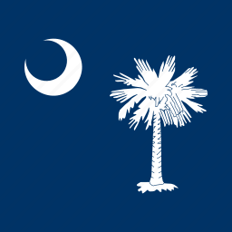 american, carolina, flag, south, square, state icon