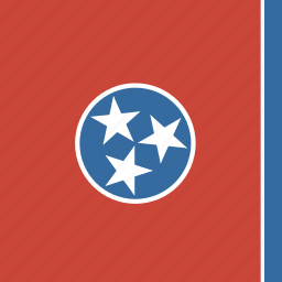 american, flag, square, state, tennessee icon