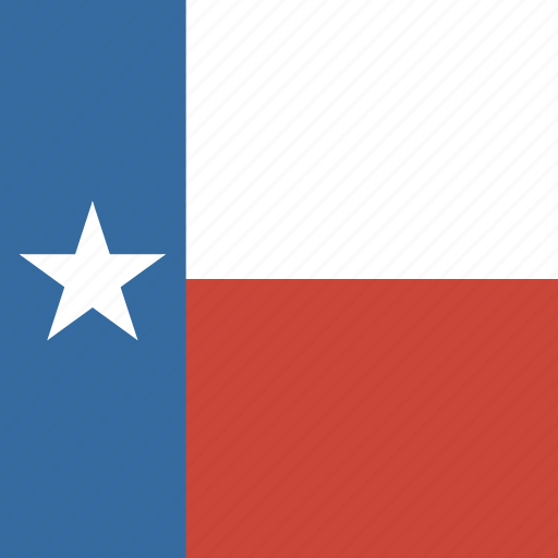 american, flag, square, state, texas icon