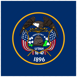 american, flag, square, state, utah icon