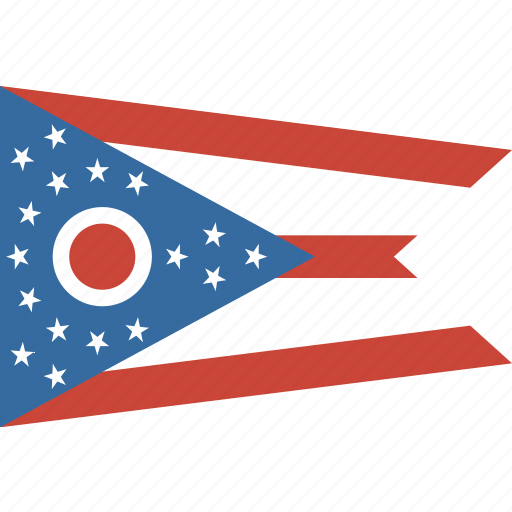 american, flag, ohio, state icon