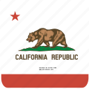 american, california, curved, flag, rounded, square, state icon