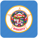 american, flag, minnesota, state icon