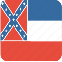 american, flag, mississippi, state icon