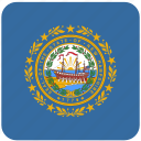 american, curved, flag, hampshire, new, new hampshire, state icon