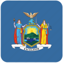 american, flag, new york, state icon