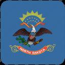 american, curved, dakota, flag, north, north dakota, state icon