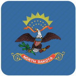 american, curved, dakota, flag, north, north dakota, state icon