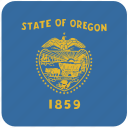 american, flag, oregon, state icon