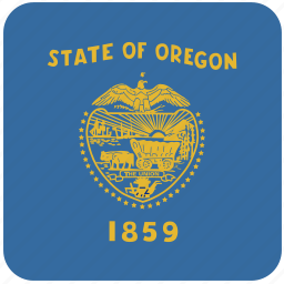 american, curved, flag, oregon, rounded, square, state icon