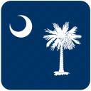 american, carolina, curved, flag, rounded, south, state icon