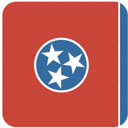 american, curved, flag, rounded, square, state, tennessee icon