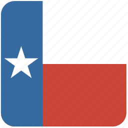american, curved, flag, rounded, square, state, texas icon