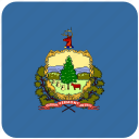 american, flag, state, vermont icon