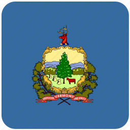 american, curved, flag, rounded, square, state, vermont icon