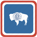 american, flag, state, wyoming icon