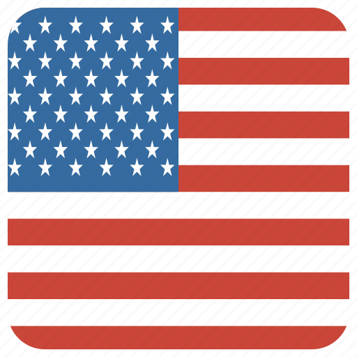 america, curved, flag, square, united states, us, usa icon