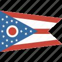 american, flag, ohio, state icon
