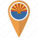 american, arizona, flag, pin, state icon