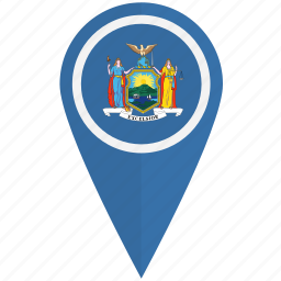 american, flag, new, pin, state, york icon