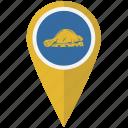american, flag, oregon, pin, reverse, state icon