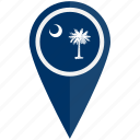 american, carolina, flag, pin, south, state icon