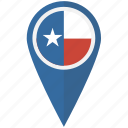 american, flag, pin, state, texas icon