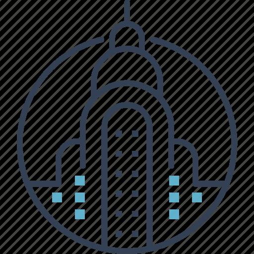 building, city, landmark, usa icon