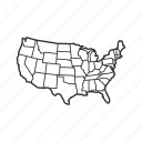 map, usa, united states of america, state, borders, america, geography