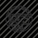 alaska, america, seal, state, state seal, state symbol, usa icon