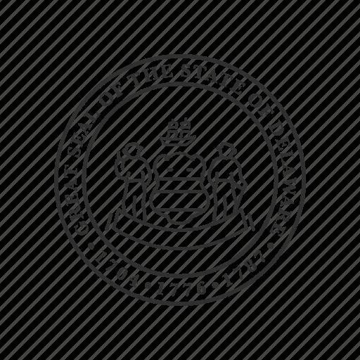america, delaware, seal, state, state seal, state symbol, usa icon