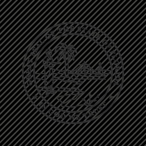 america, florida, seal, state, state seal, state symbol, usa icon