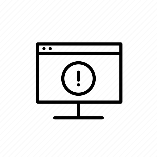desktop, error, errors, exclamation mark, software, warning icon