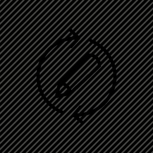 again, editing, iteration, loop, repeat, rewriting icon