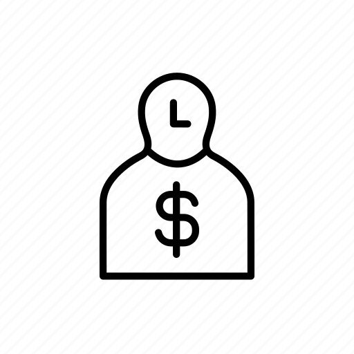 dollar, money, person, persona, stakeholder, ux activity icon