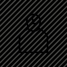 avatar, person, persona, profile, user, ux activity icon