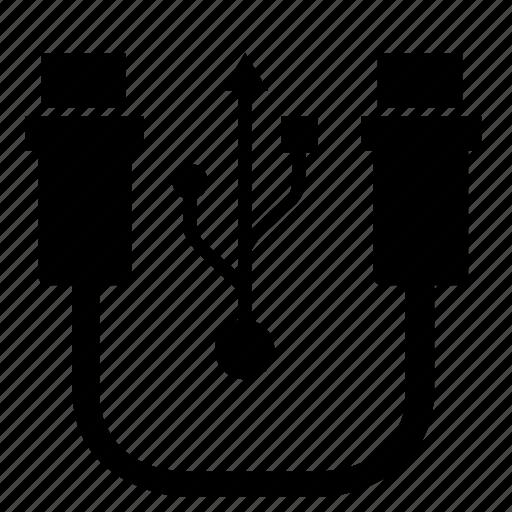 cable, data, mini, transfer, usb icon