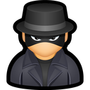 cyber, hat, spy, undercover, user icon