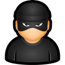 bad, criminal, cybercriminal, thief, user icon