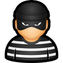 criminal, cybercriminal, prisoner, thief, user icon