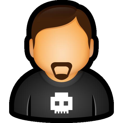 bad, bully, goatie, skull, user icon