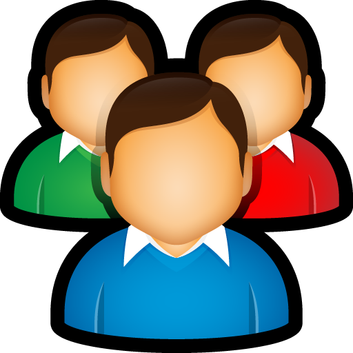 customers, group, team, user, user group icon