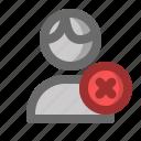 account, cancel, male, man, profile, user