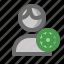 account, male, man, profile, setting, user