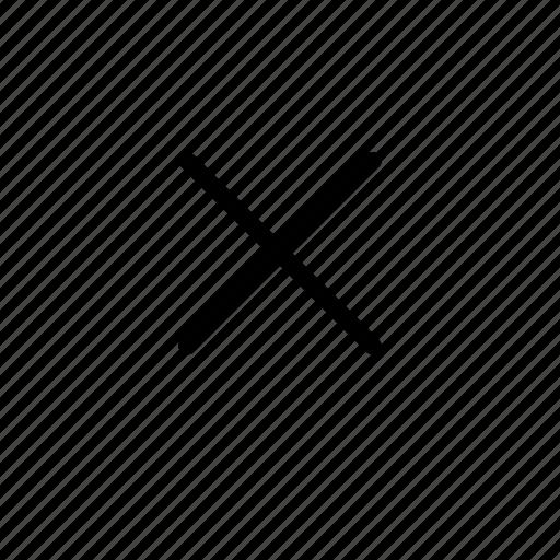 close, ex, multiply, strike, x icon