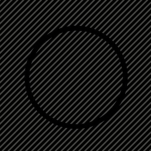 border, disc, line icon