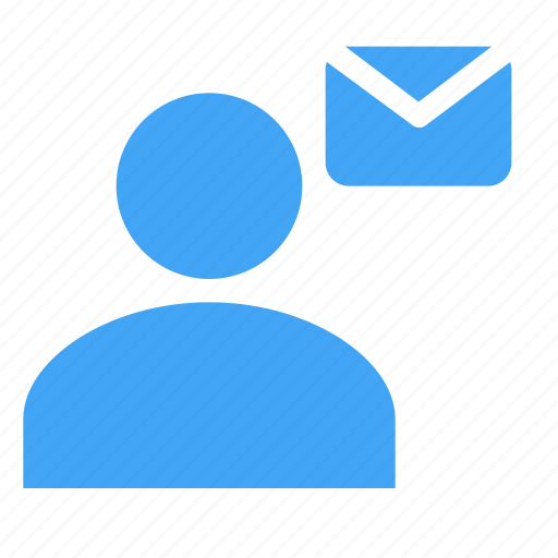 avatar, business, human, letter, male, message, user icon