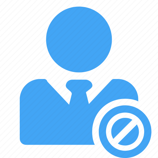 avatar, blocked, business, male, man, manager icon