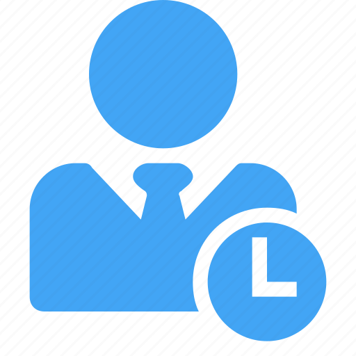 avatar, clock, male, man, pending, scheduled, user icon